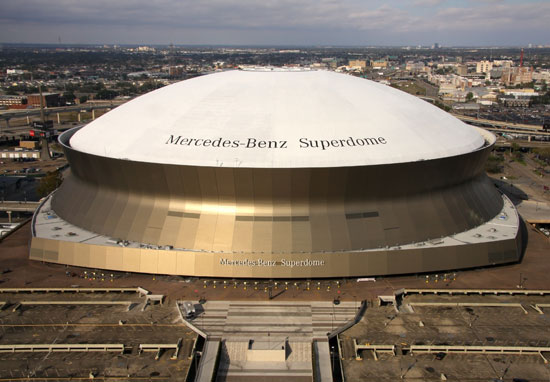 Rcc flooring llc our work project gallery mercedes benz for Mercedes benz superdome new orleans la